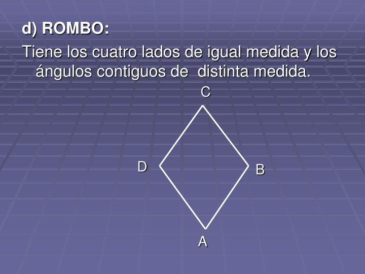 d) ROMBO: