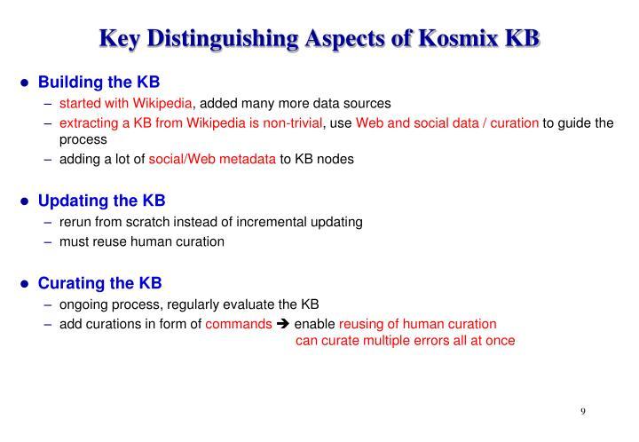 Key Distinguishing Aspects of