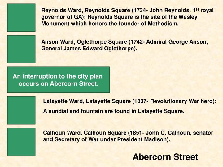 Reynolds Ward, Reynolds Square (1734- John Reynolds, 1
