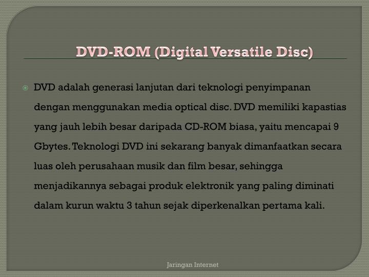 DVD-ROM (Digital Versatile Disc)