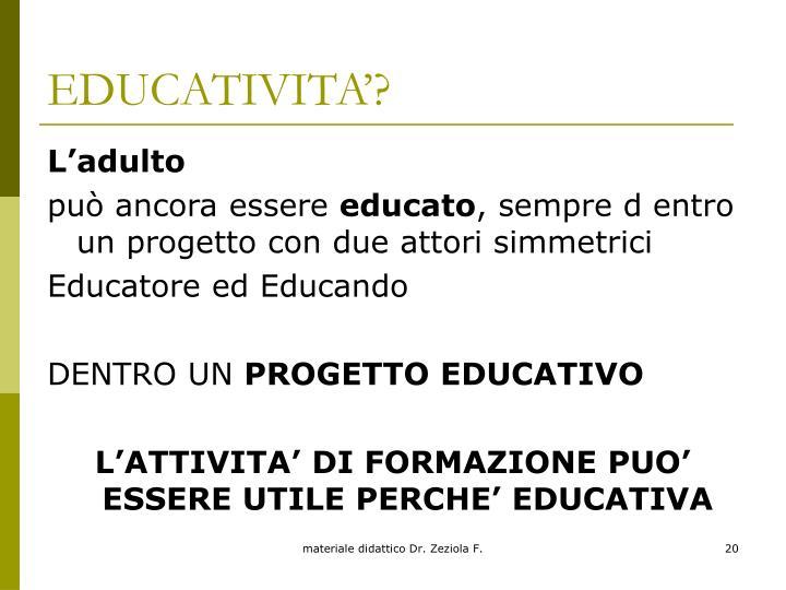 EDUCATIVITA'?