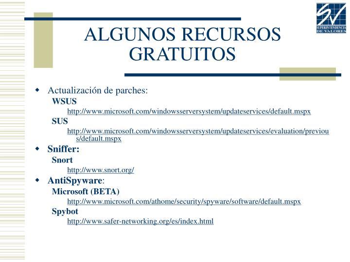 ALGUNOS RECURSOS GRATUITOS
