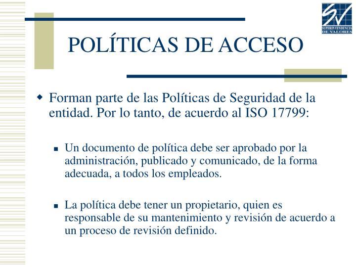 POLÍTICAS DE ACCESO