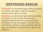 identidades basicas