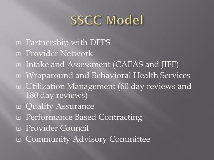 SSCC Model
