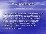 asa endorsement