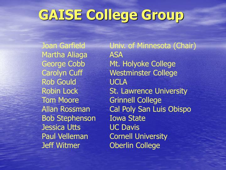 Gaise college group
