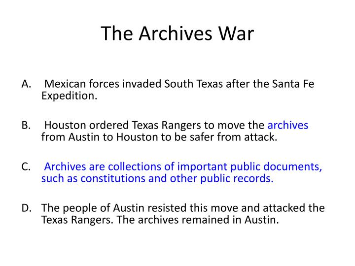 The Archives War