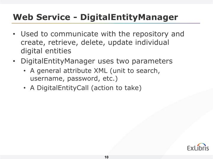Web Service - DigitalEntityManager