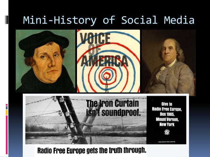 Mini-History of Social Media