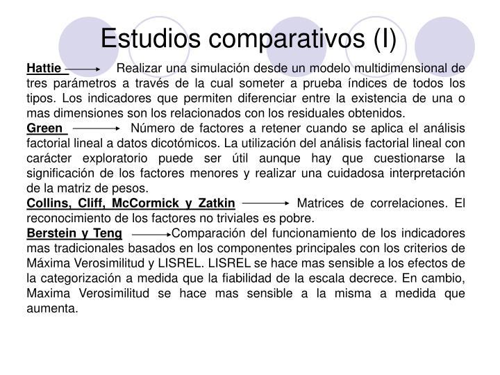 Estudios comparativos (I)