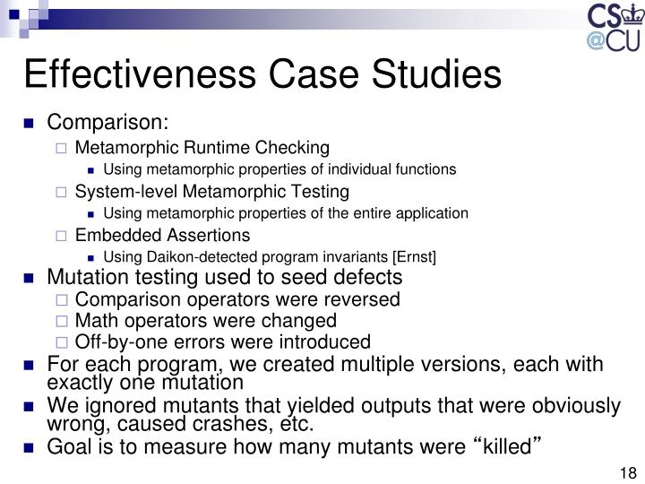 Effectiveness Case Studies