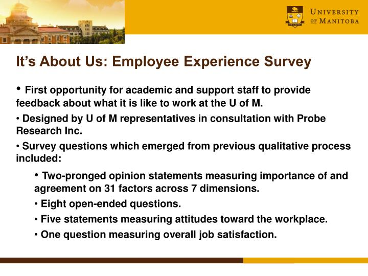 It's About Us: Employee Experience Survey