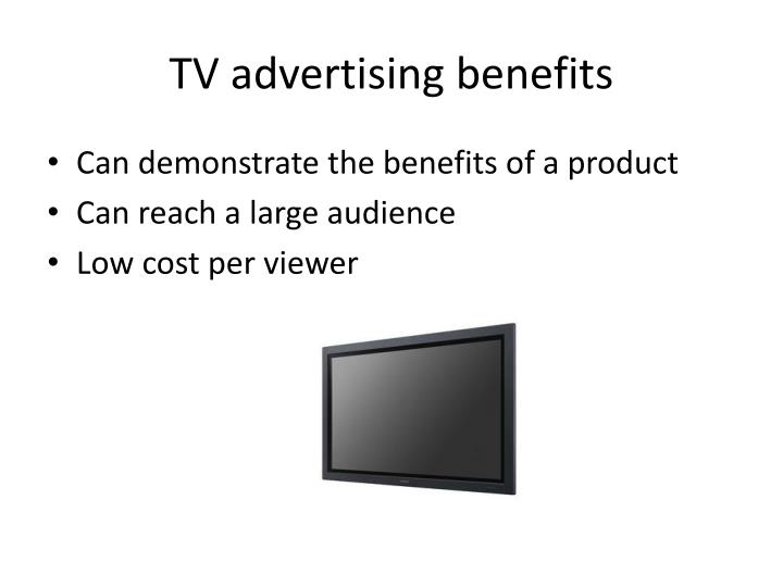 TV advertising benefits