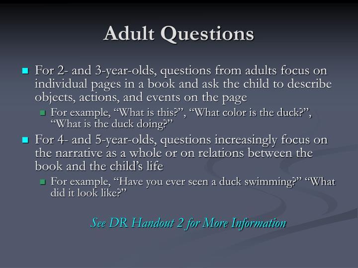 Adult Questions