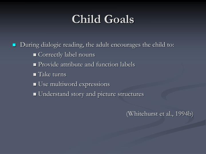 Child Goals