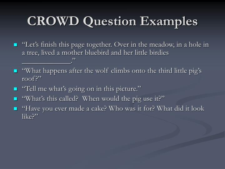 CROWD Question Examples