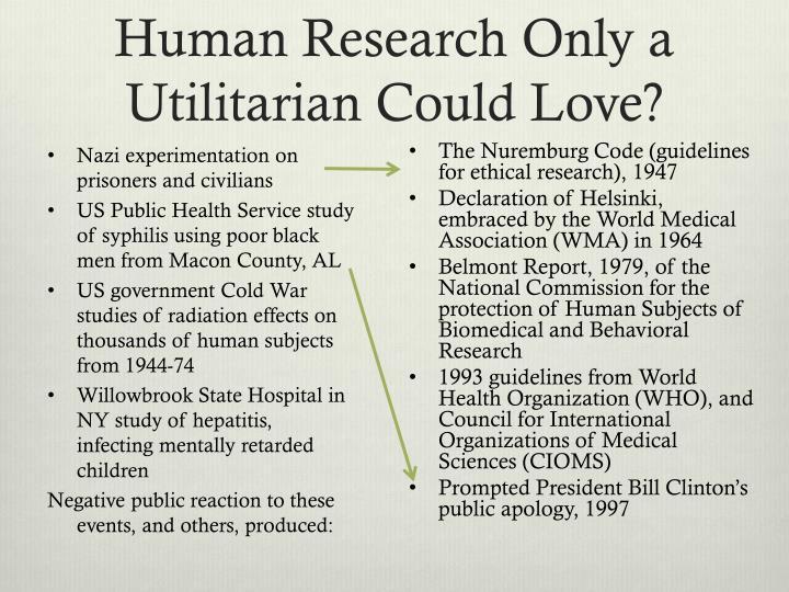 Human Research Only a Utilitarian Could Love?