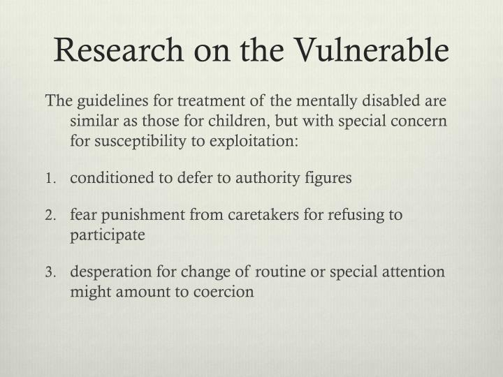 Research on the Vulnerable