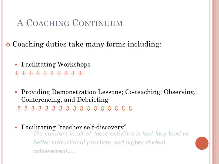 A Coaching Continuum