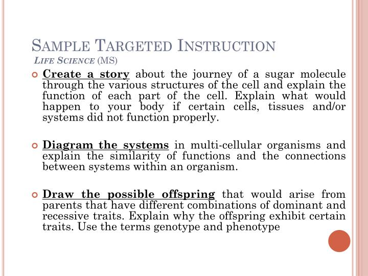 Sample Targeted Instruction