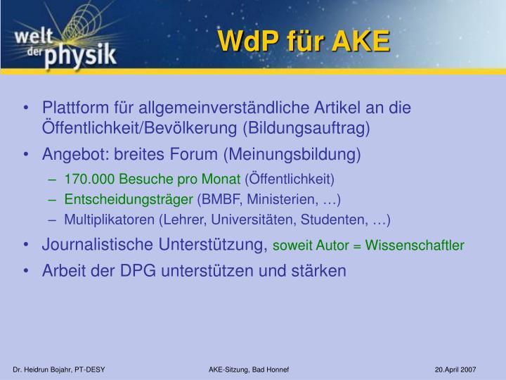 WdP für AKE
