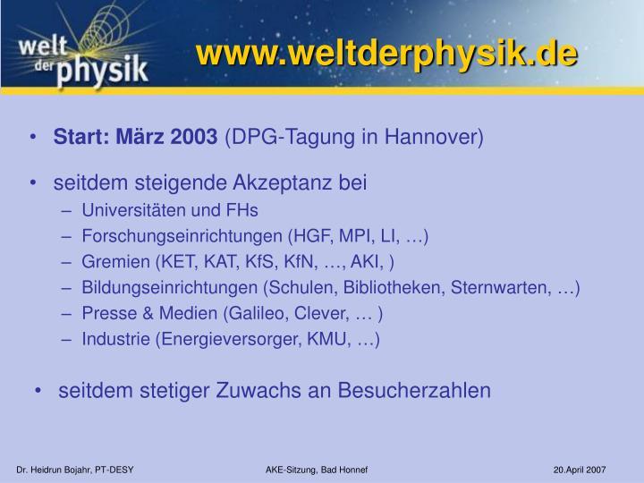www.weltderphysik.de
