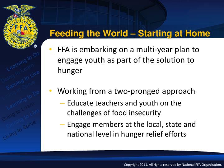 Feeding the World – Starting at Home