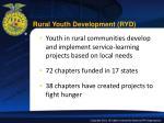 rural youth development ryd