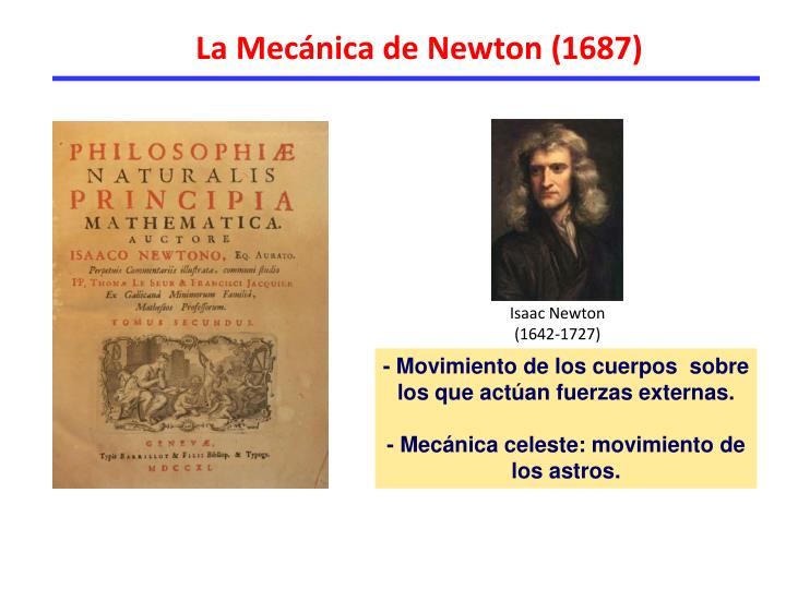 La Mecánica de Newton (1687)