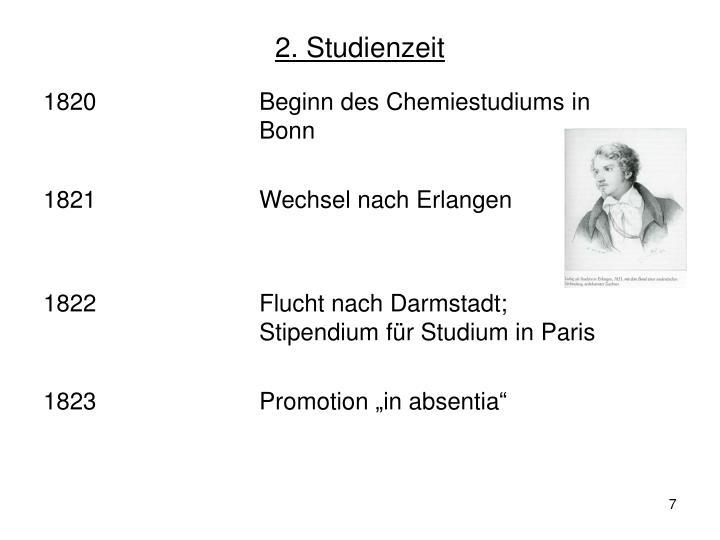 2. Studienzeit