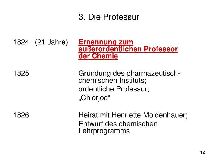 3. Die Professur