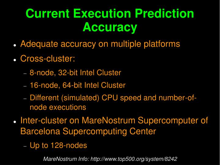 Current Execution Prediction Accuracy