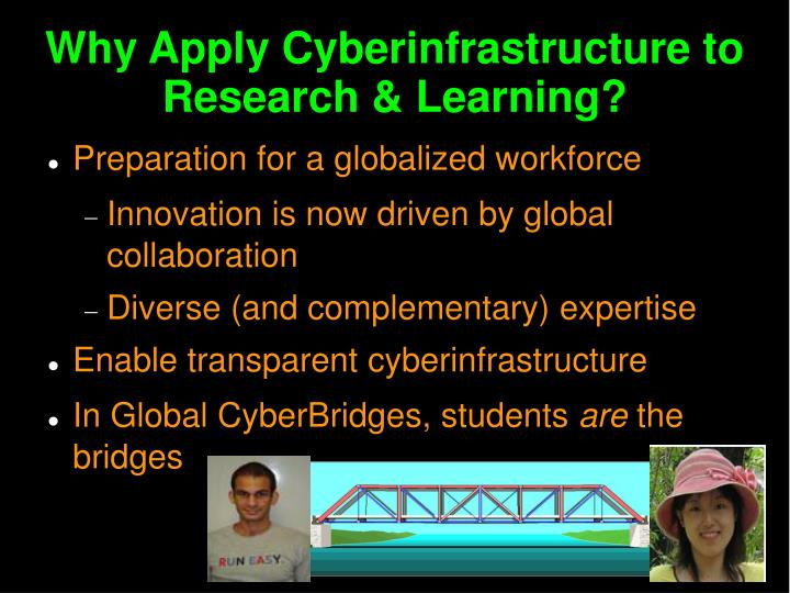 Why Apply Cyberinfrastructure to Research & Learning?