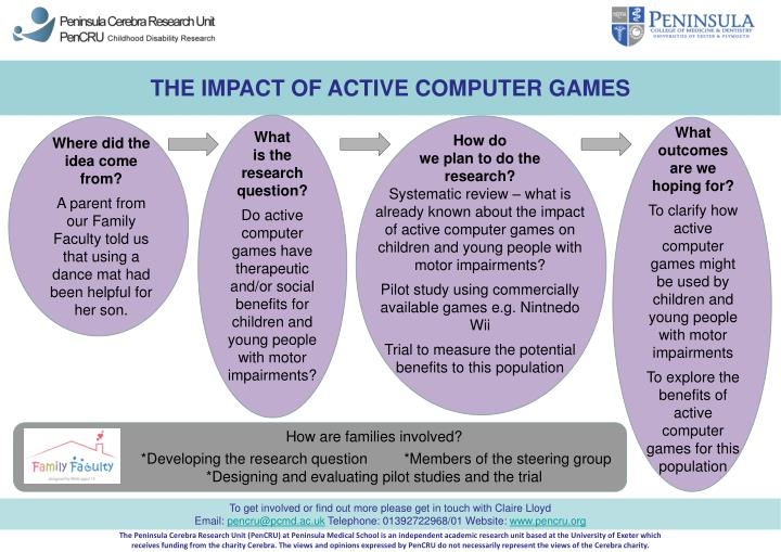 THE IMPACT OF ACTIVE COMPUTER GAMES