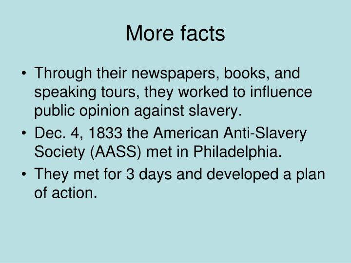 More facts