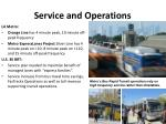service and operations