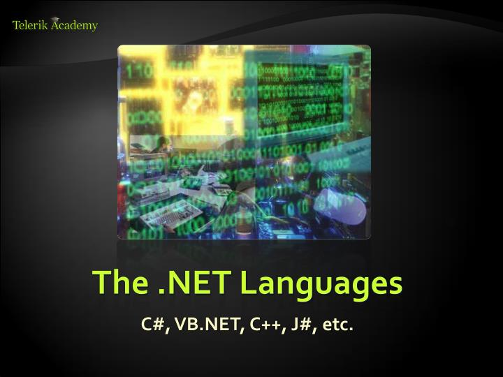 The .NET Languages