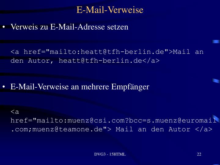E-Mail-Verweise