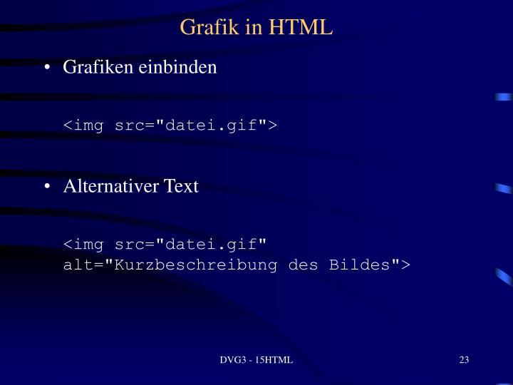 Grafik in HTML