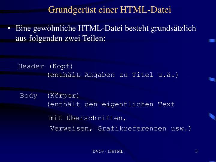 Grundgerüst einer HTML-Datei