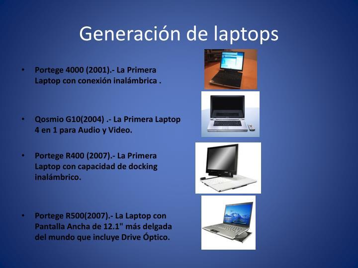 Generación de laptops