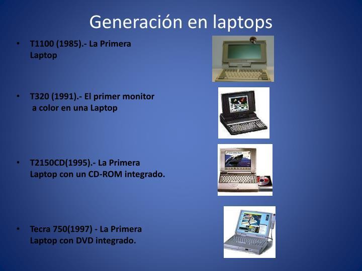 Generación en laptops