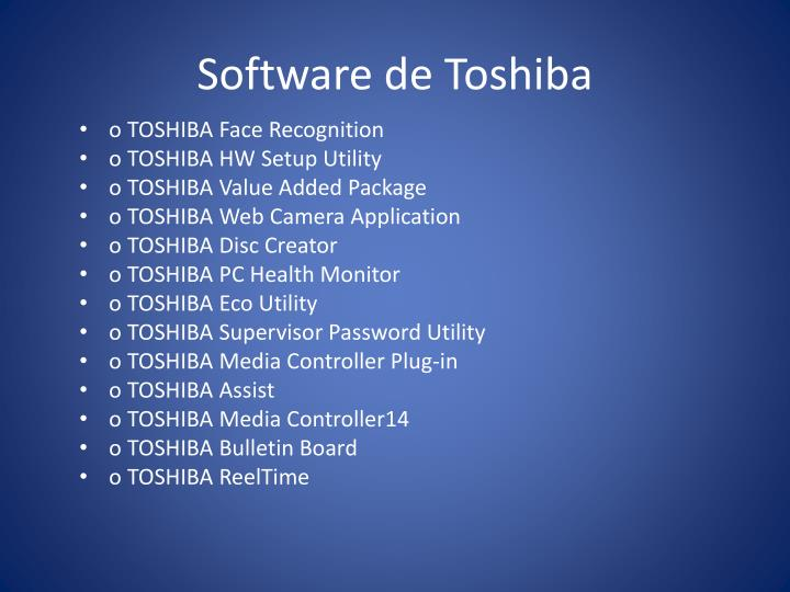 Software de Toshiba