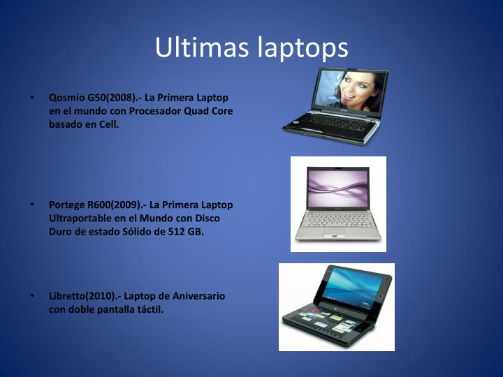 Ultimas laptops
