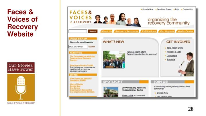 Faces & Voices of Recovery Website