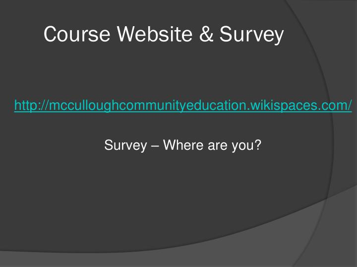 Course Website & Survey