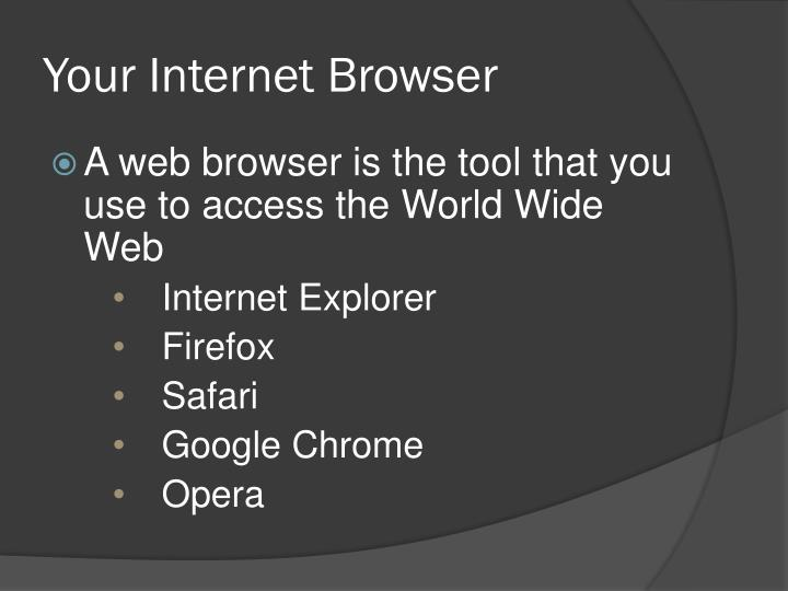 Your Internet Browser