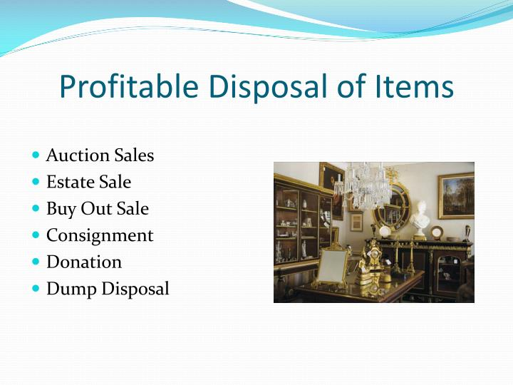 Profitable Disposal of Items