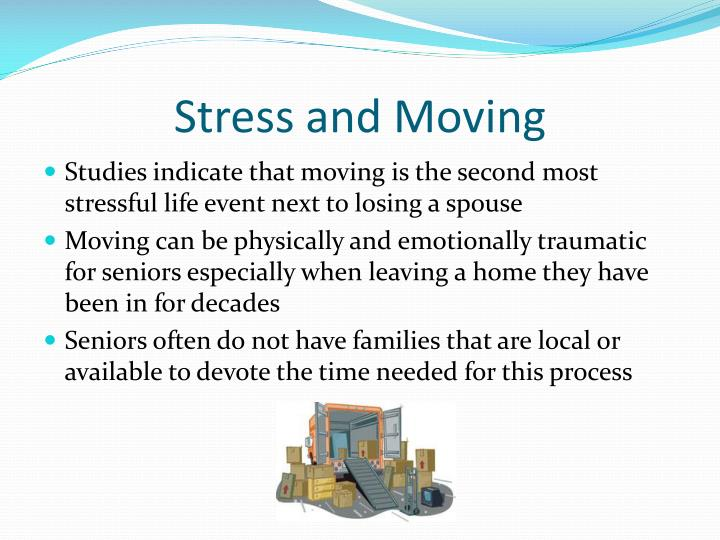 Stress and moving